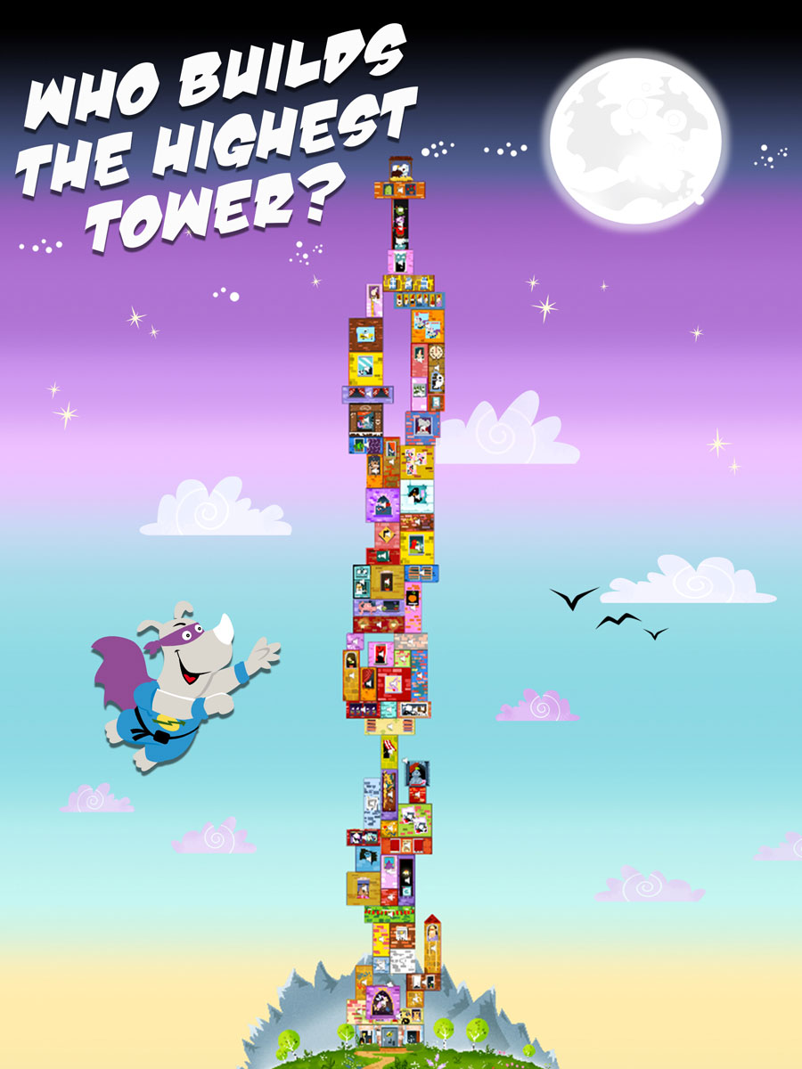 Rhino Hero Action Game for Kids – Build the highest tower