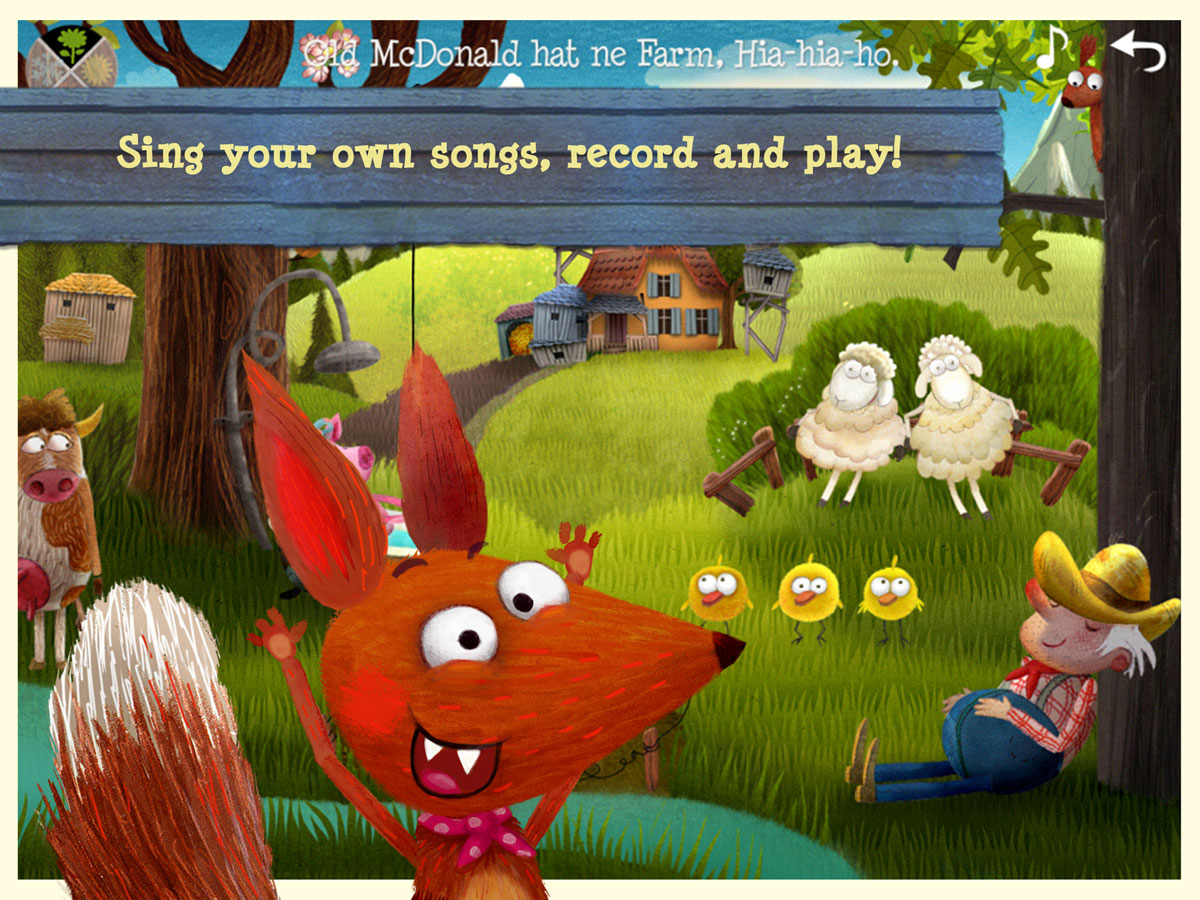 Little Fox Nursery Rhymes App – sing your own songs, record and play