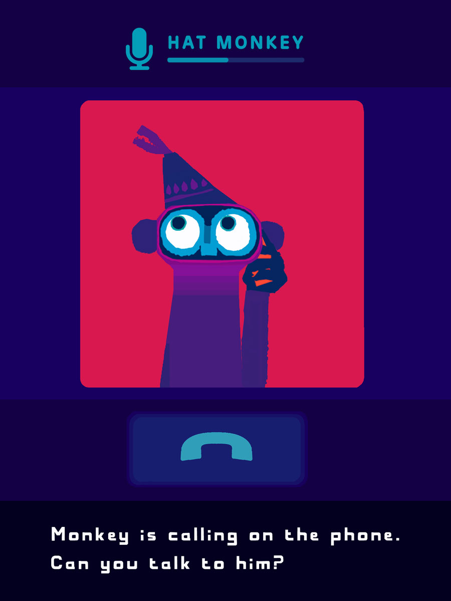 Hat Monkey App by Chris Haughton – call monkey on the phone and talk with him