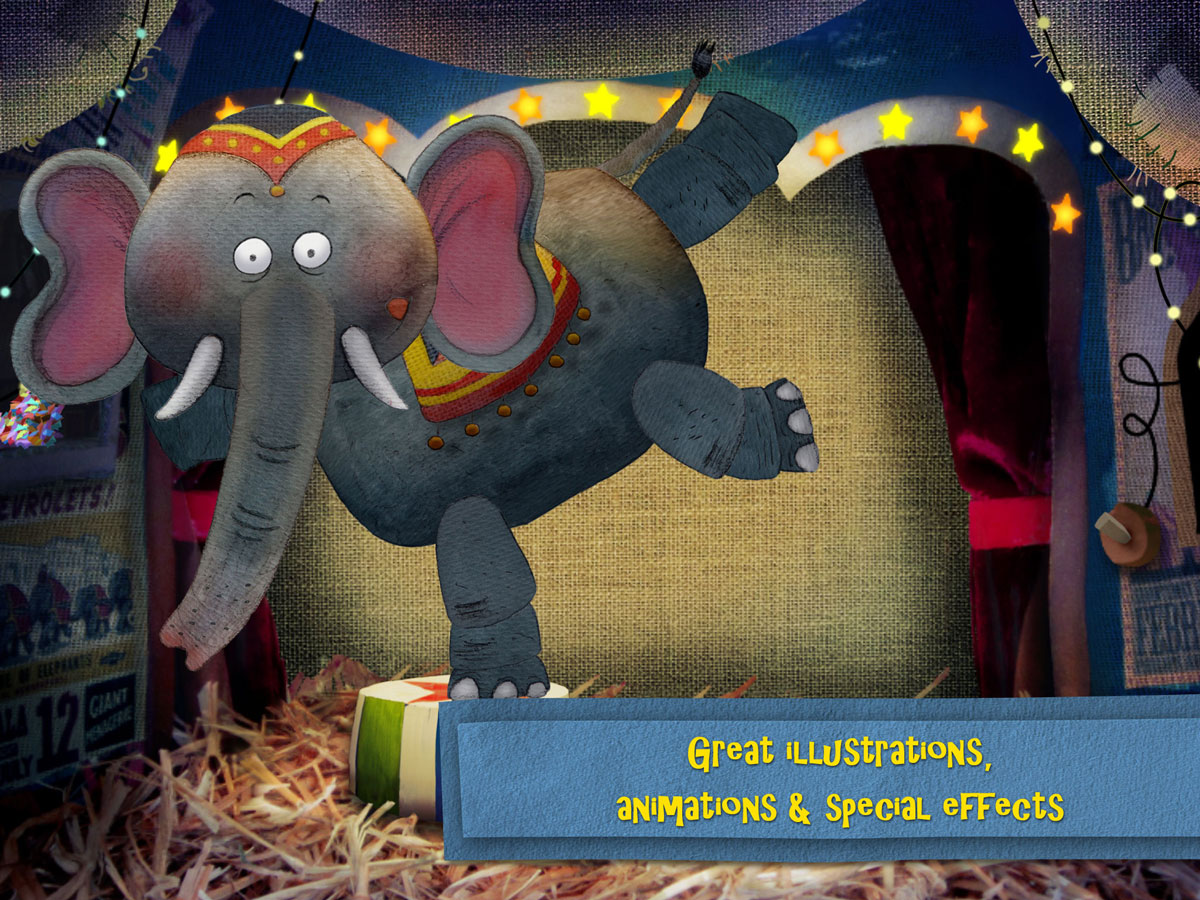 Nighty Night Circus Bedtime Book App – great animations, illustrations and special effects