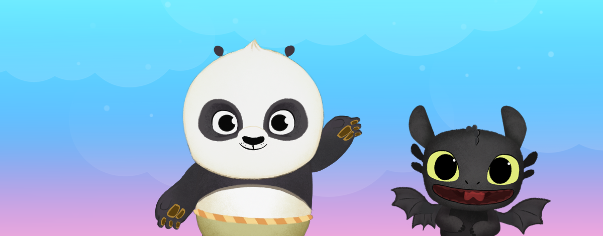 DreamWorks App for Kids – Kung Fu Panda and Toothless of How to train a Dragon