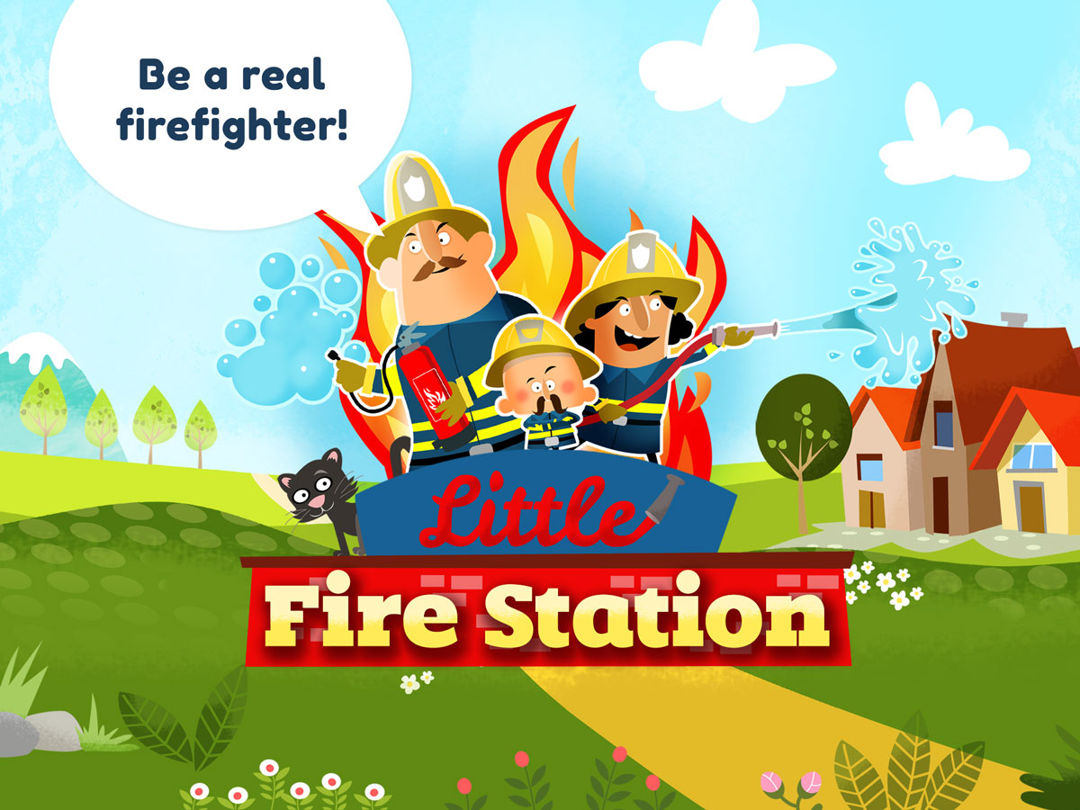 Little Fire Station App for Kids - Be a real firefighter