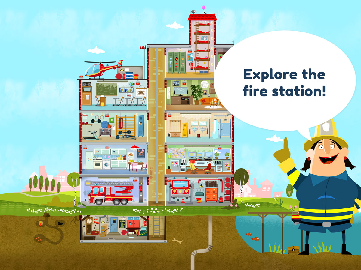 Little Fire Station App for Kids - Explore the fire station
