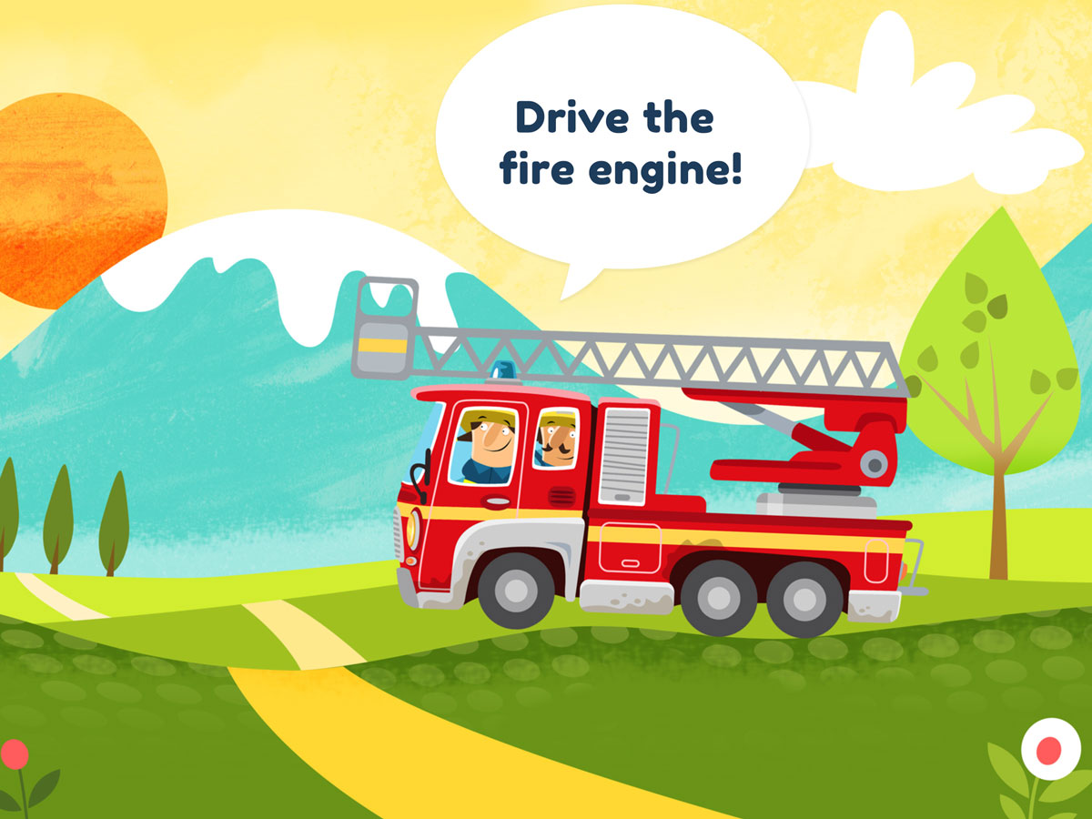 Little Fire Station App for Kids - Drive the fire engine