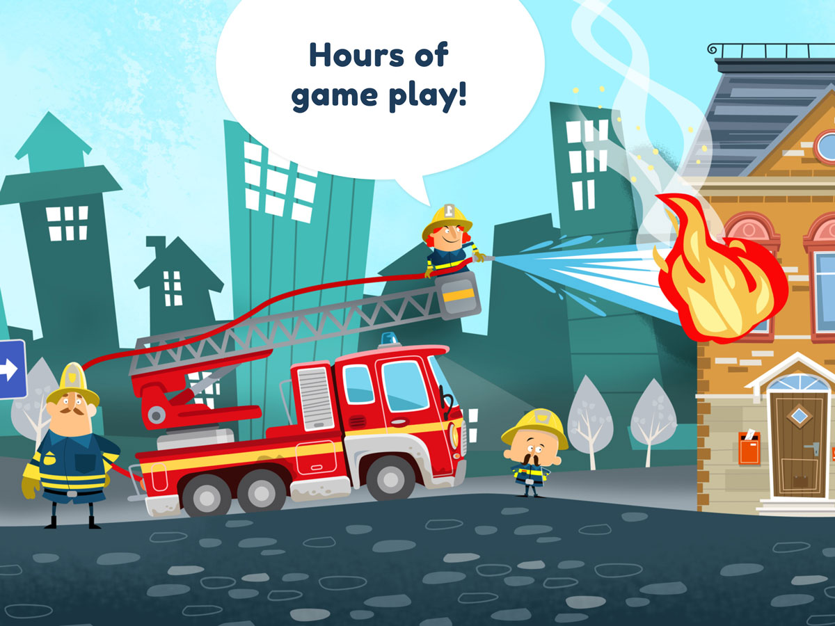 Little Fire Station App for Kids - Hours of game play
