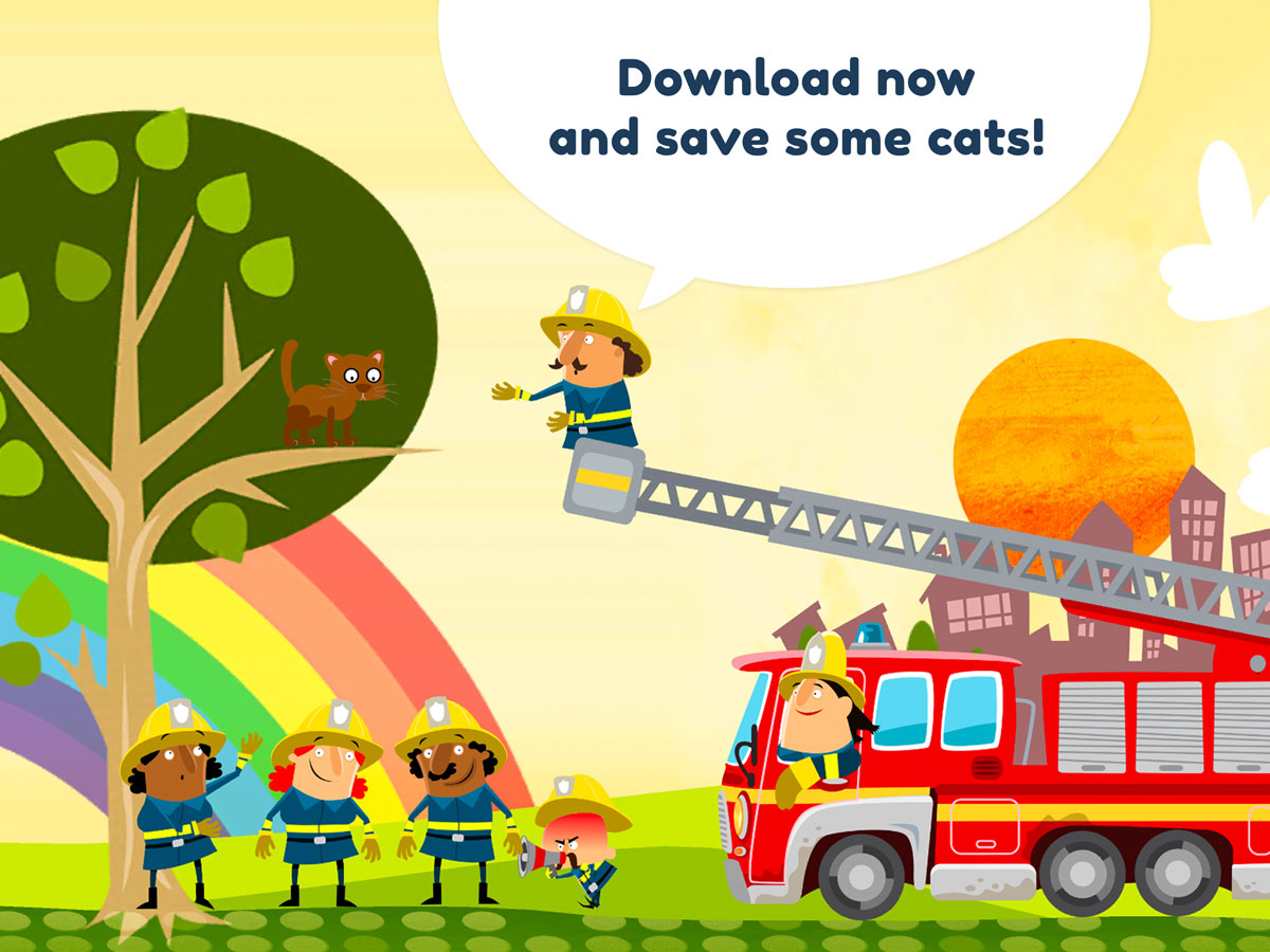 Little Fire Station App for Kids - Save some cats