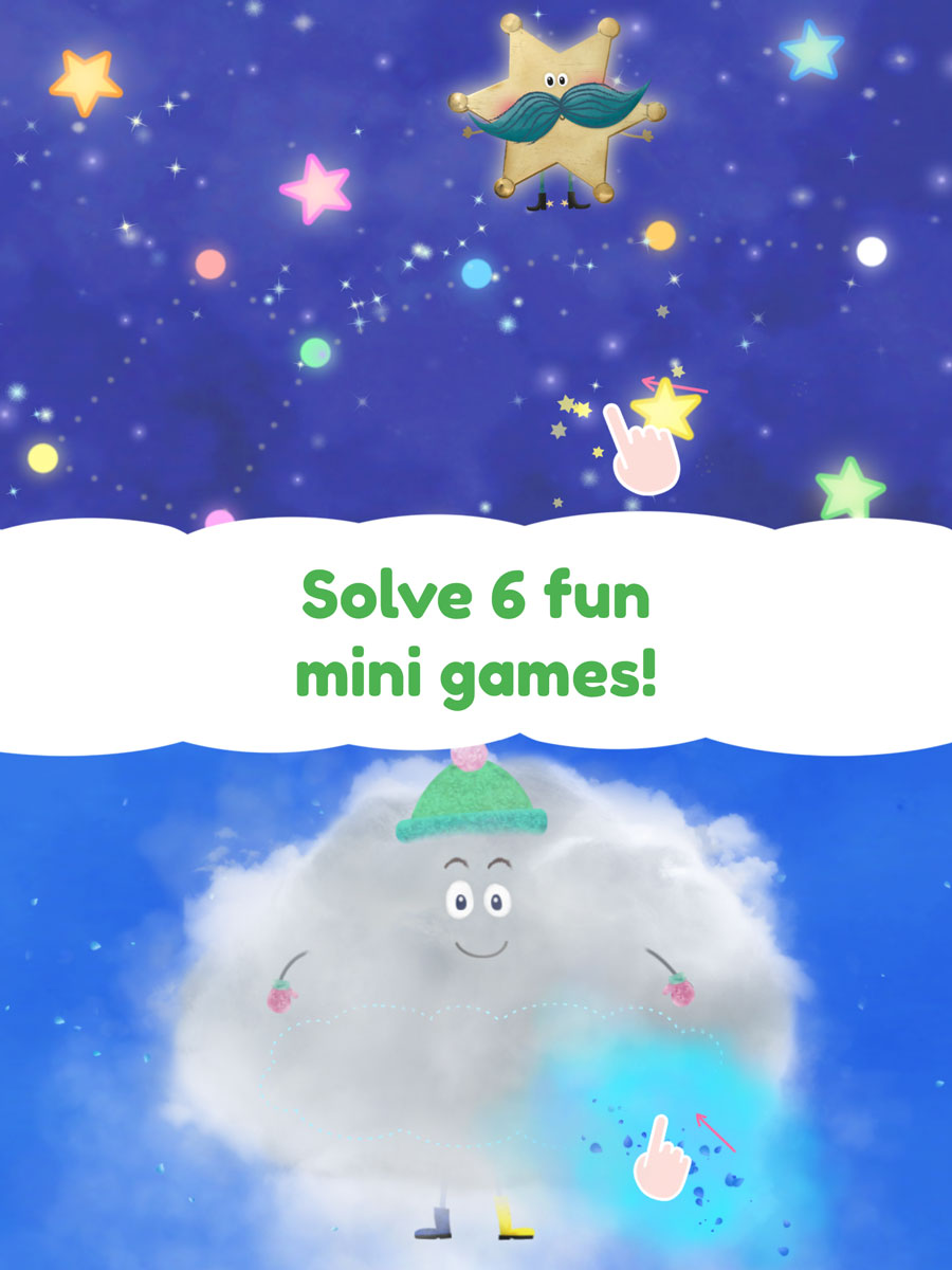 Rudi Rainbow App for Kids – solve 6 fun mini games