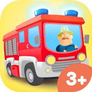 App Icon Little Fire Station – kids mobile game with firefighters and fire trucks