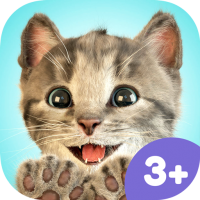 Little Kitten App Icon – cute real cat game for kids