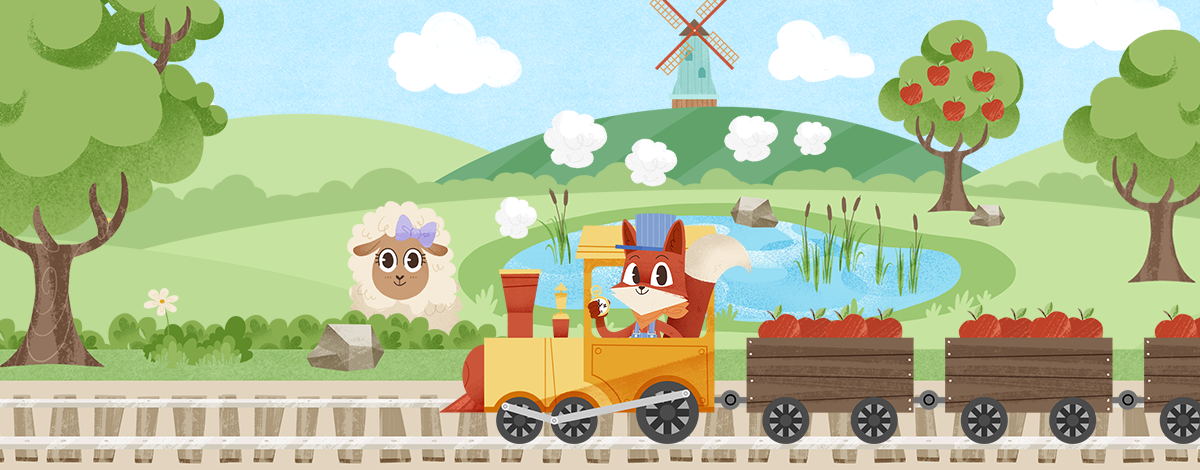 Little Fox Train Adventures – adorable game for toddlers illustrated by Karoline Pietrowski