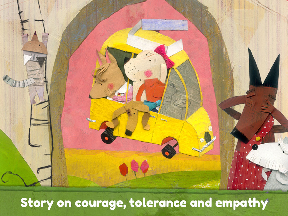 Lucy & Pogo App – handmade story on courage, tolerance and empathy