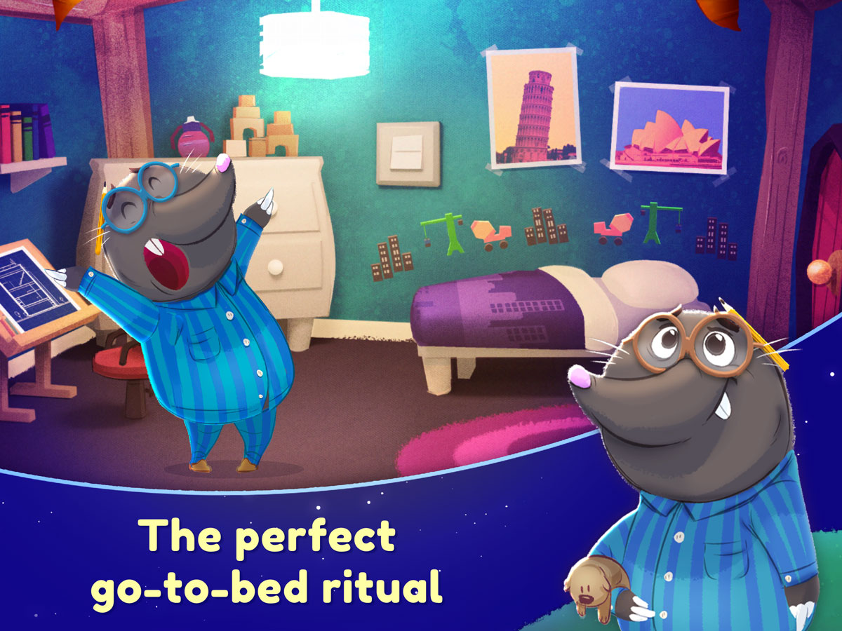 Nighty Night Forest Kids App for iPhone, iPad and Android – the perfect go-to-bed ritual