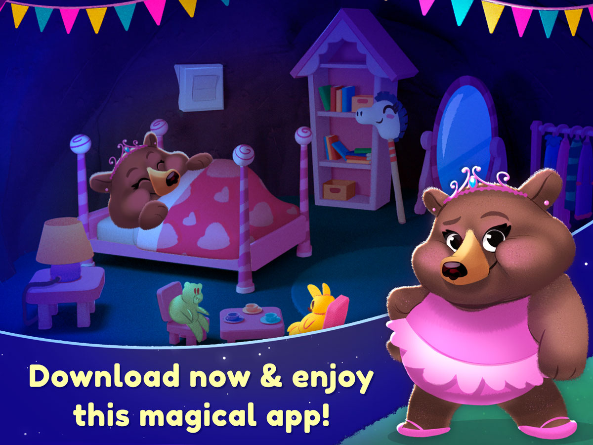 Nighty Night Forest Kids App for iOS and Android – magical bedtime game
