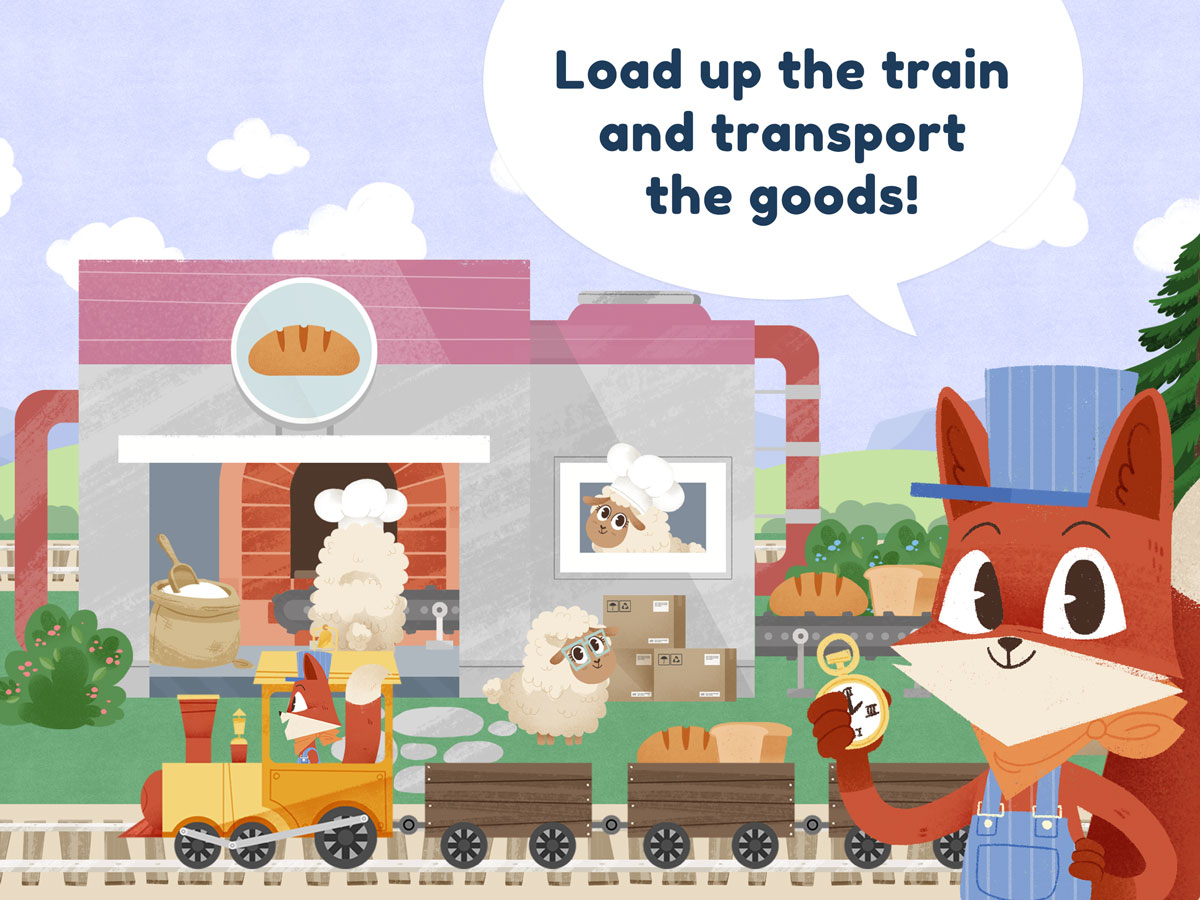 Little Fox Train Adventures – load up the train and transport the goods