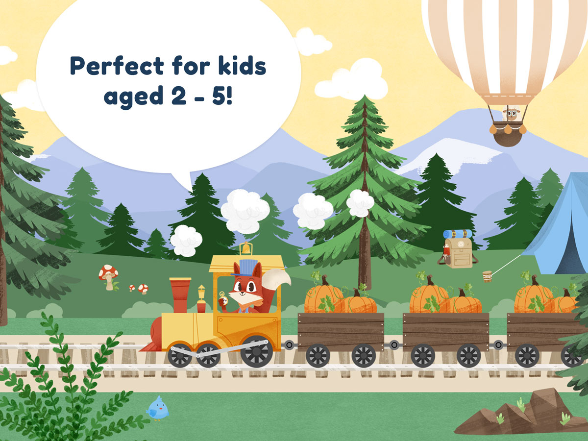 Little Fox Train Adventures – perfect for kids aged 2 to 5