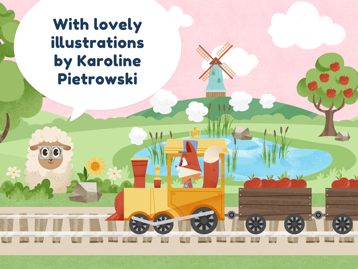 Little Fox Train Adventures – lovely illustrations by Karoline Pietrowski