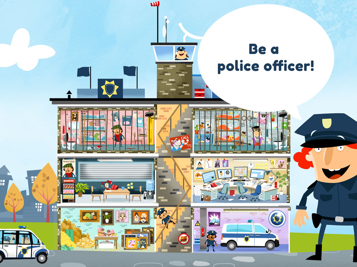 Little Police Station Kids App – be a police officer