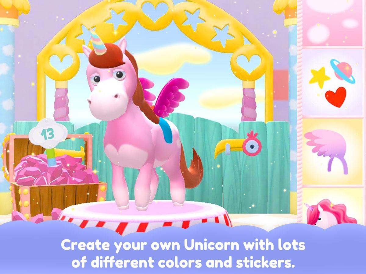 Unicorn Glitterluck – create your unicorn with stickers, colors and accessories