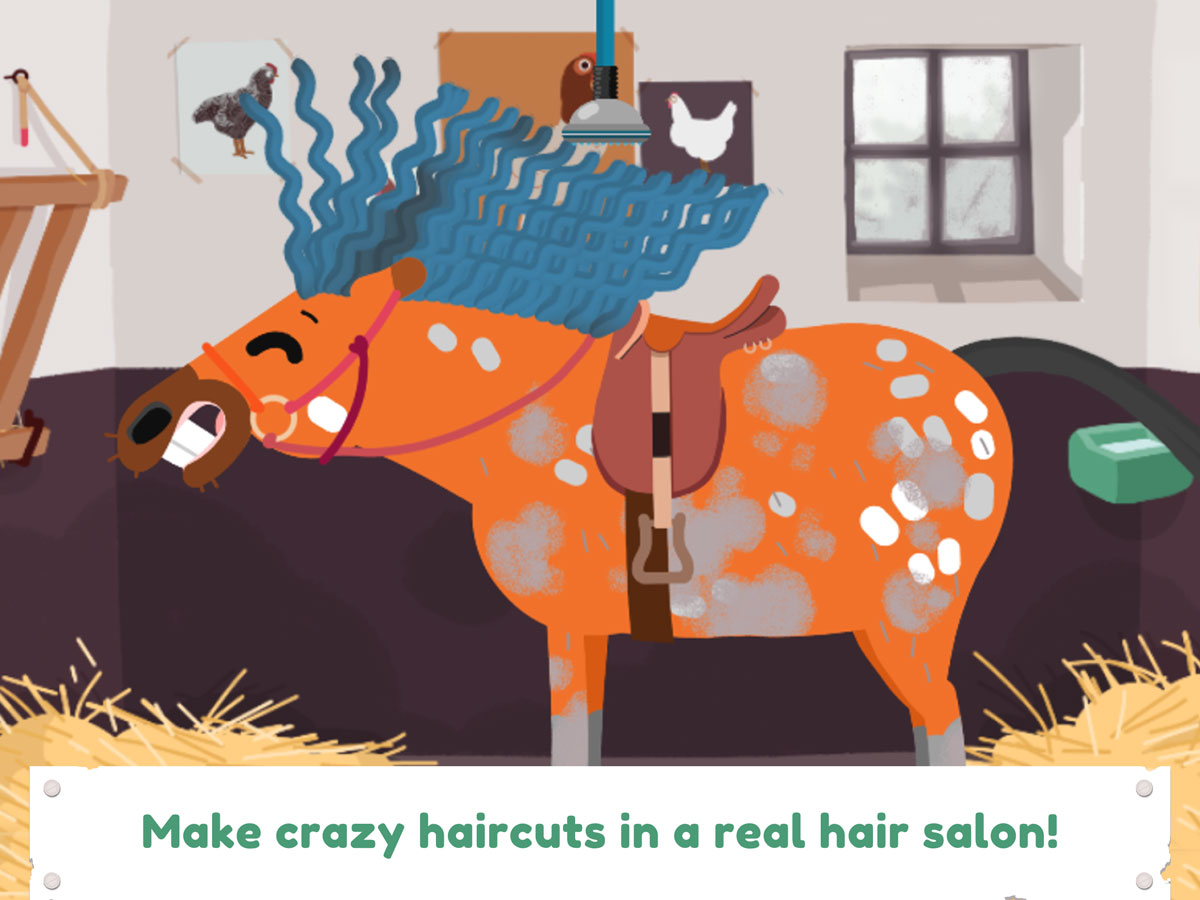 Pony Style Box App for Kids – make crazy haircuts in the horse hair salon