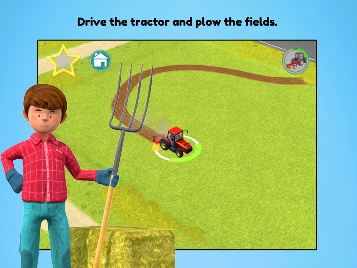 Little Farmers App for kids – Drive the tractor and plow the fields