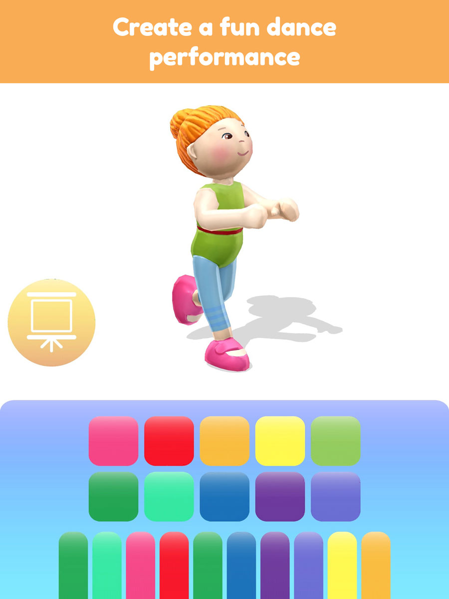 Little Friends Dance Studio AR App – create a fun dance performance