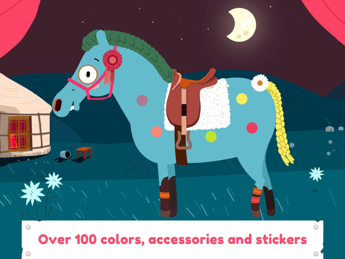 Pony Style Box App for Kids – dress up your horse with colors, accessories and stickers