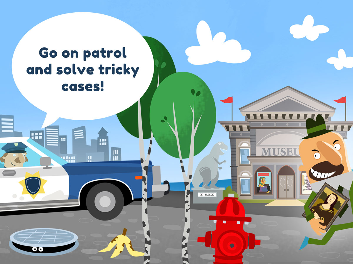 Little Police Station Kids App – go on patrol and solve tricky cases