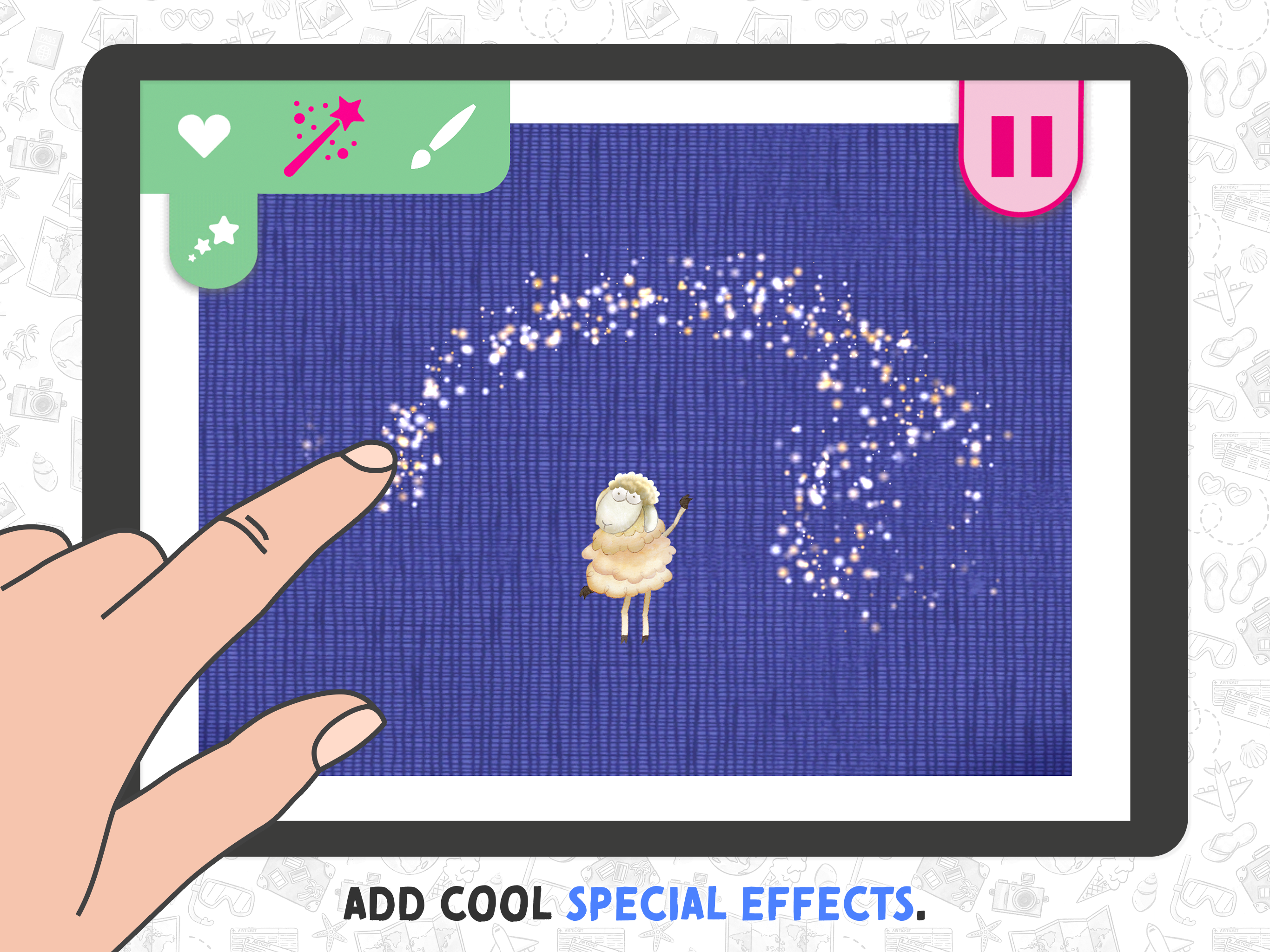 Movie Maker App for Kids – choose out of over 30 characters and backgrounds