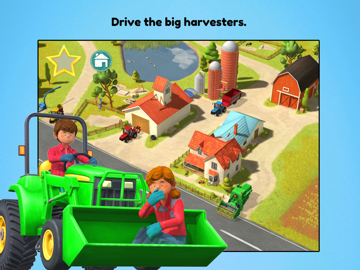 Little Farmers App for kids – Drive the big harvesters