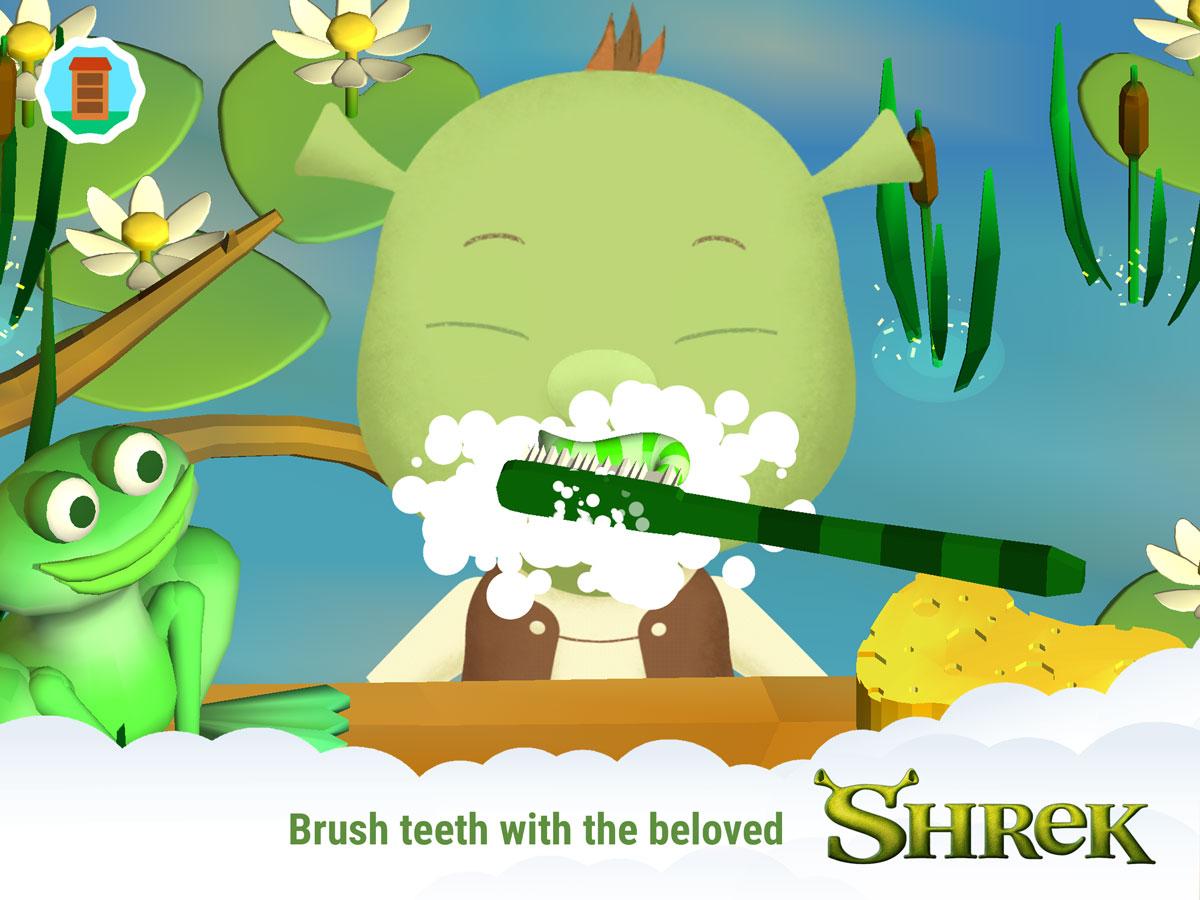 DreamWorks Friends – brush teeth with Shrek