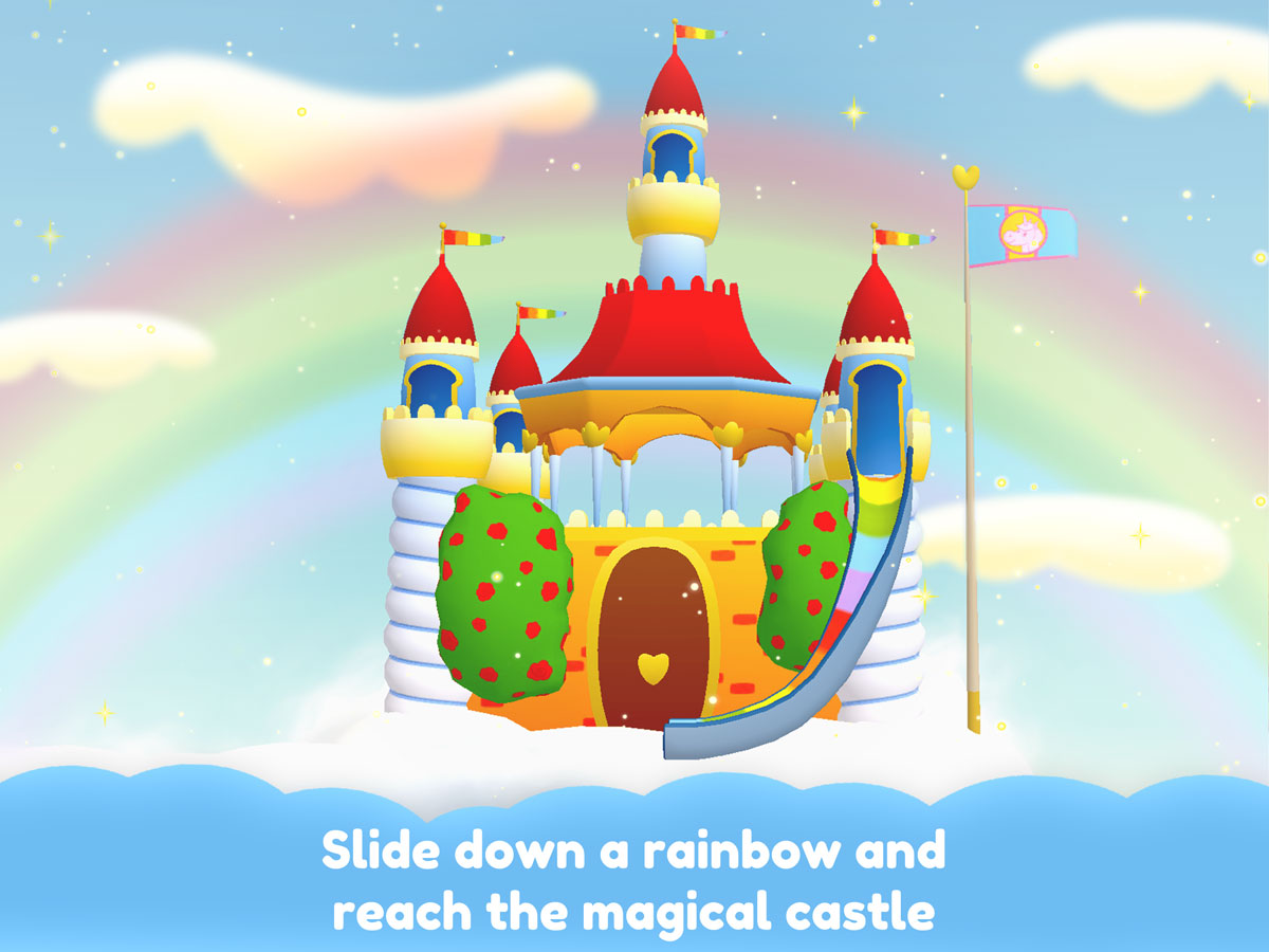 Unicorn Glitterluck – Slide down a rainbow and reach the magical castle