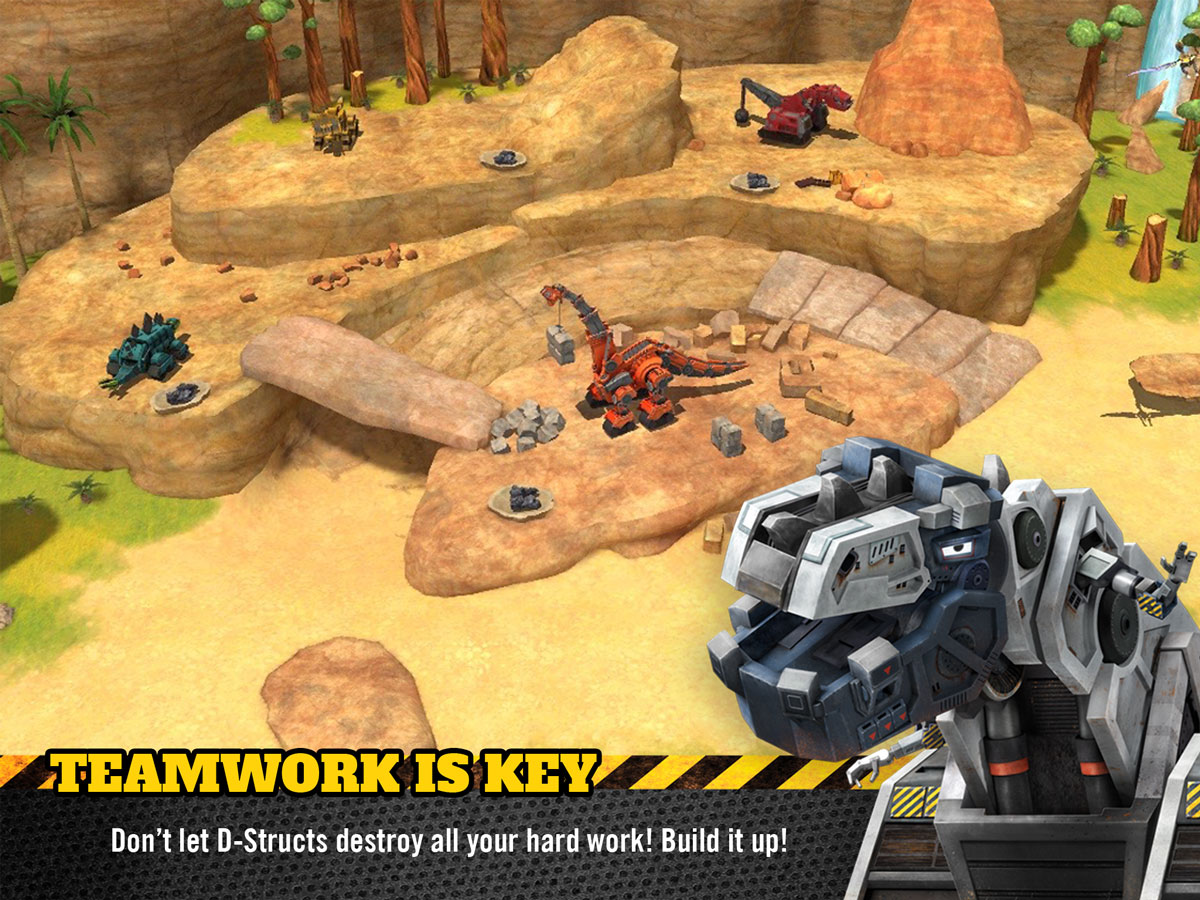 Dinotrux Game for Kids – teamwork is key