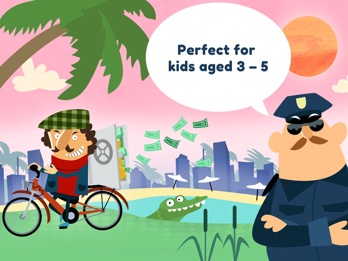 Little Police Station Kids App – perfect game for kids aged 3 to 5
