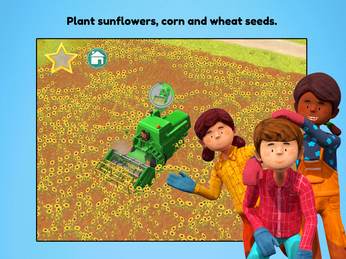Little Farmers App for kids – Plant sunflowers, corn and wheat seeds