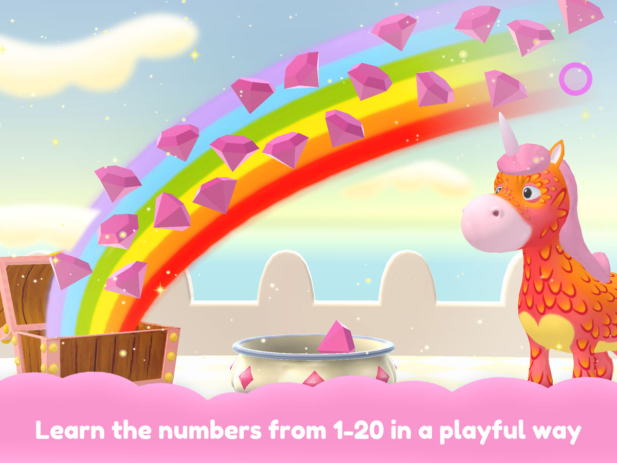 Unicorn Glitterluck – Magical jump 'n' run game for little kids