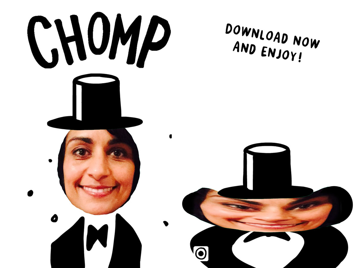 CHOMP App by Christoph Niemann – funny selfie game for kids and grown ups