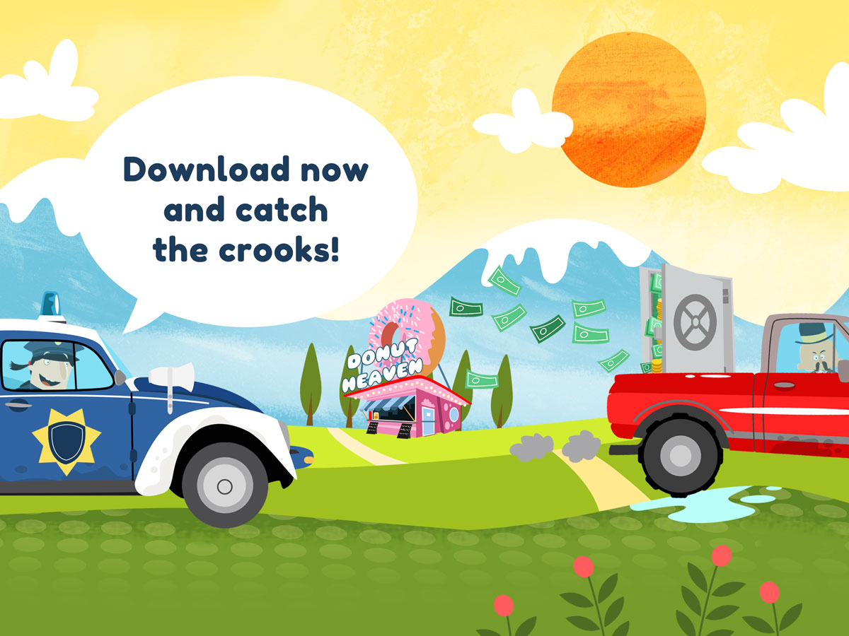 Little Police Station Kids App – catch the gangsters and crooks