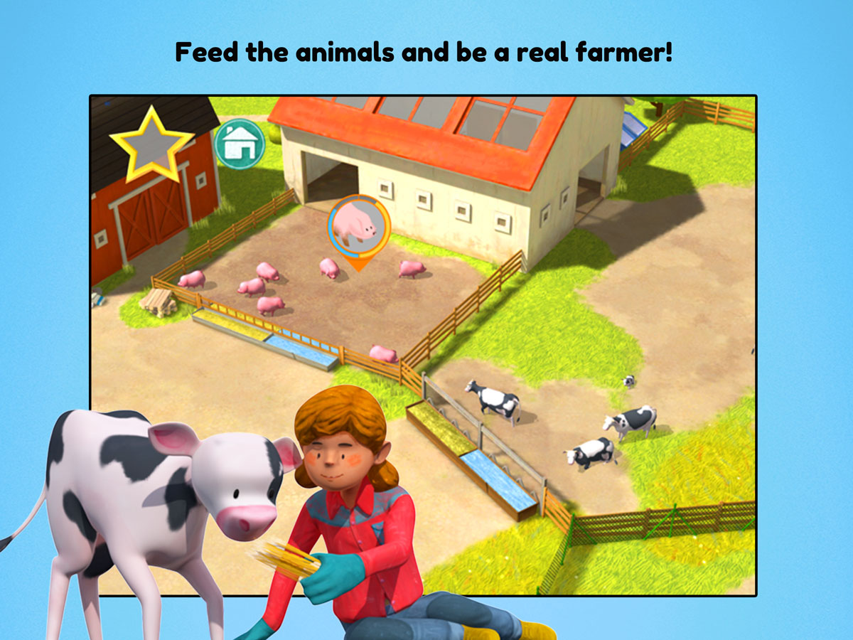 Little Farmers App for kids – feed animals and be a real farmer