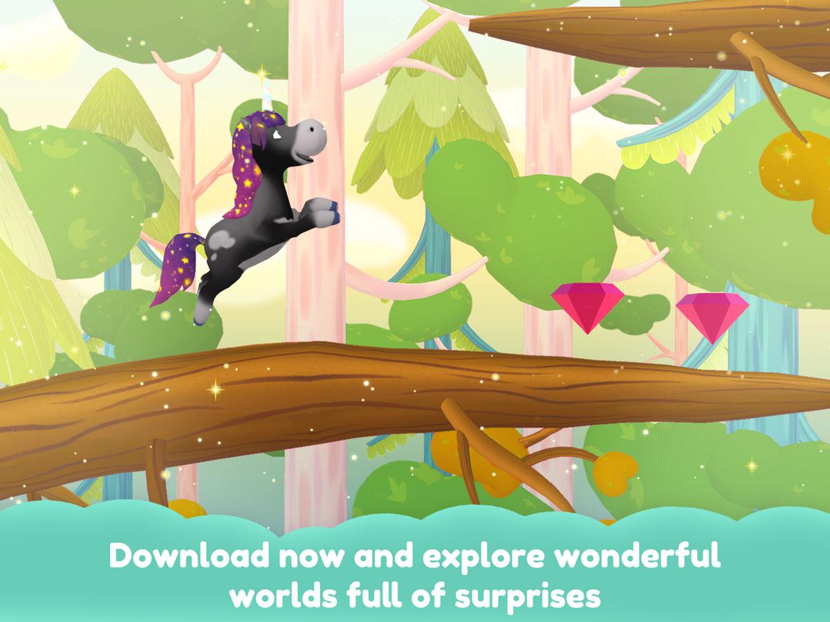 Unicorn Glitterluck – Magical jump and run game for kids