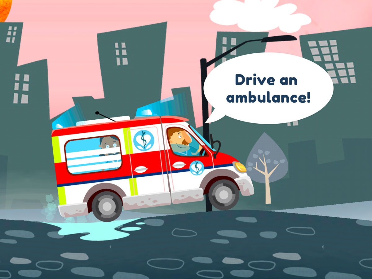 Little Hospital App for Kids – drive an ambulance