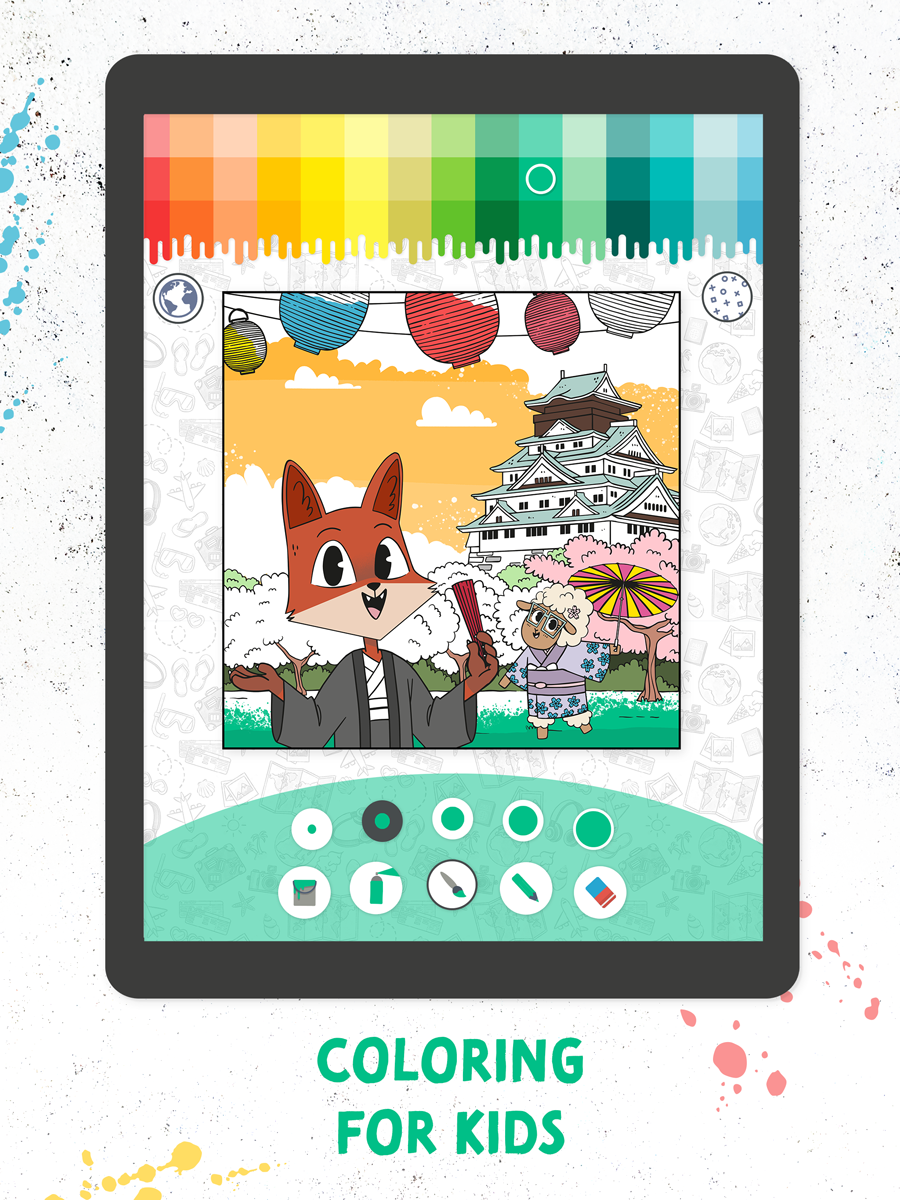 Coloring Fun with Fox And Sheep – Kids App Screenshot 01