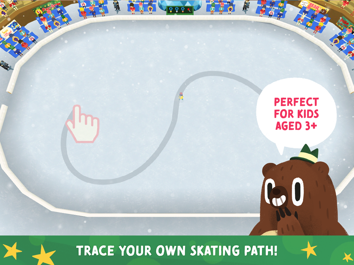Nice Skating Kids App – Trace your own skating path