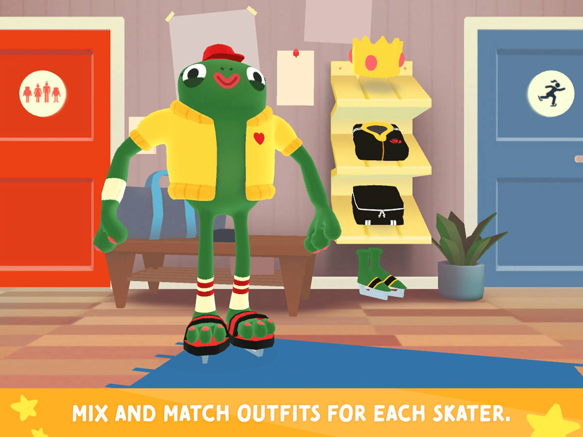 Nice Skating Kids App – four different figure skaters to choose from