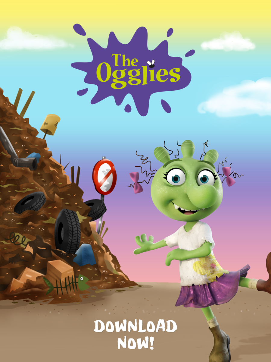 The Ogglies Kids App for iOS and Android devices